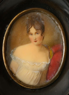 Miniature painted on ivory - Europe - 19th-century