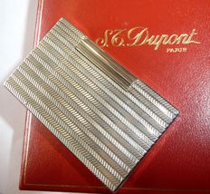 S.T. DuPont large lighter, empty engraving plate + original packaging + papers *no reserve price*