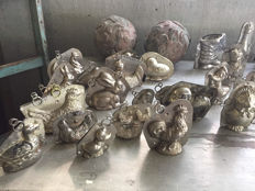 Large collection of 70 antique/vintage chocolate moulds