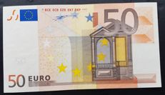 European Union - Germany - 50 Euro 2002 - Duisenberg - without  Hologram  -  ERROR  note