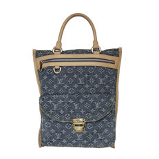 Louis Vitton Sac Plat Denim Monogram