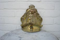 Copper wall sconce with romantic presentation - Holland - 19th century