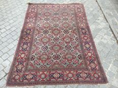 Beautiful old Persian Ispahan carpet from Iran, very fine, handmade, 140 x 206 cm