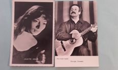 France 1950 / 1970 selection of cards of movie stars and singers