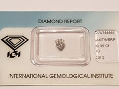 Pear Cut Diamond 0.39 ct G SI2
