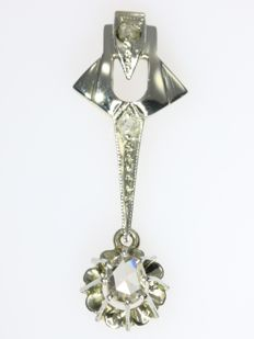 White gold diamond Art Deco pendant without reserve price, anno 1920