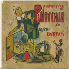 Le Avventure di Pinocchio. Narrated, sung, and dramatised on 18 Durium discs - 1933