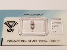Marquise Cut Diamond 0.41 ct E SI1