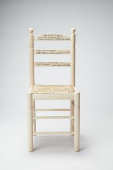 Paula Ortiz - Customized wood and wicker chair, 2017