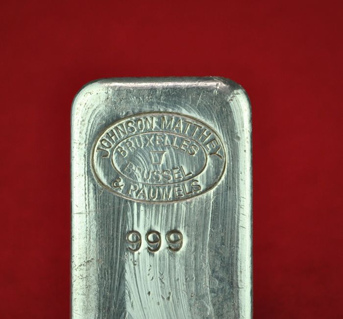 999 Finesse Silver 1 Kilogram Bar Stamped Quot Johnson Matthey