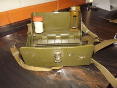 Military kit for analysis of war chemical. 1959.