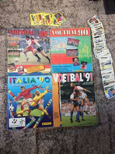 Panini - World Cup Italia 90 + Voetbal '89/'90/'91 - Incomplete World Cup 90 album + 3 complete football albums + 229 loose stickers.