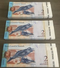 Venezuela - 300 x 2 Bolivares 2012 - Pick 88 - consecutive numbers and original bundles