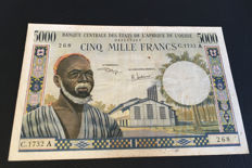 West African States - Ivory Coast - 5000 Francs 1961/1965 - Pick 104Ah
