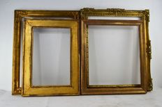 Four gilded carved wood frames, Italy, 19th and 20th century