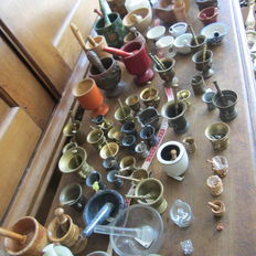 Collection of 80 mortars