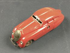"Schuco, Germany - L. 14 cm - ""Freilaufrenner"" 1250 tin toy with clockwork motor, 1930s."