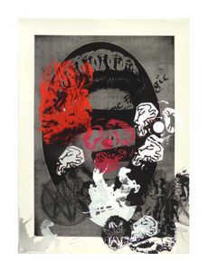 Jamie Reid - God Save the Queen - Unpublished prototype for 'Liberty' editions (silver/grey)
