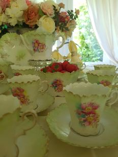 Servies Limoges - 29 delen Hand Painted