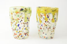 Zecchin - set of 2 Murrine glasses