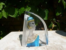 Mats Jonasson Kosta Boda- glass object Egyptian Princess