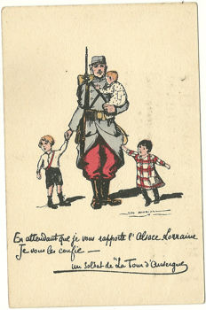 Militaria varia : 80 cards and military documents: humour, destruction and letters, propaganda, patriotism. (1900 and 1943)
