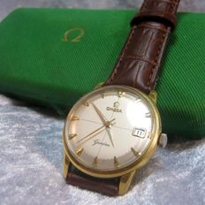 Omega — Geneve Cross Hair 18k 18ct Gold Cal;601  2 adjustments Boxed Orignal — Men — 1960-1969