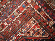 Hand made antique Persian Khamseh rug 6' x 9' ( 183cm x 275cm) 1880s