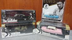 4 Greenlight Model Cars - Godfather and Elvis.
