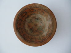 Indus Valley earthenware bowl with animal decoration - 106 mm diameter