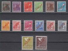 Berlin 1948 - Red overprint - Michel 21/34
