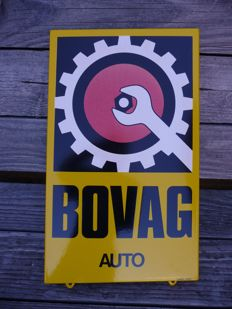 Enamel Bovag AUTO sign, from the late 20th century.
