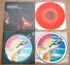 Pink Floyd- Great lot of 2 special releases of classic albums: The Dark Side Of The Moon (Japan release on RED wax w. insert) & Wish You Were Here picture disc lp w. sleeve