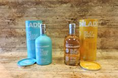 2 bottles - Bruichladdich: The Classic Laddie Scottish Barley - Islay Barley Rockside Farm 2007