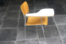 David Rowland for Howe - Stacking chair 40/4 with a table top that can be clicked on
