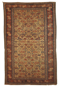 Hand made antique Persian Kurdish rug 5.6' x 8' ( 170cm x 243cm ) 1870s