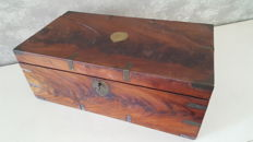 Large, old Rosewood writing box / captains box.