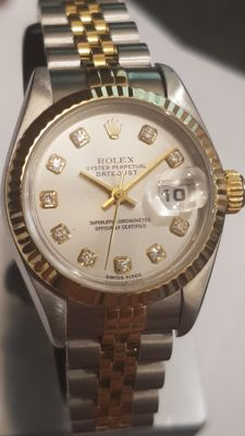 Rolex Datejust – With full diamonds – 79173 – Women's wristwatch – 2000-2010.