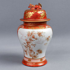 Kutani porcelain covered vase - Japan - End of 19th century