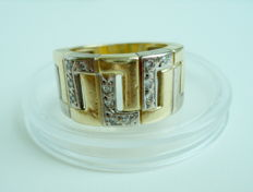 Diamond Ring 18K Solid Gold 8.8gr