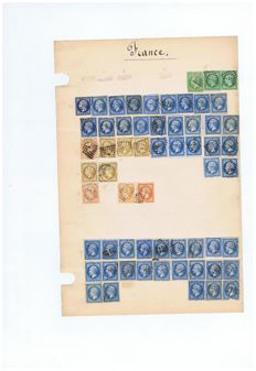 France 1850/1910 - very important store of classics on binder sheets.