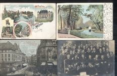 Germany,141x; old and very old village and city views-including military circulated cards