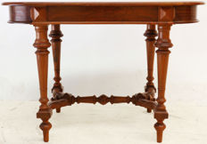 Mahogany dining table for two, ca. 1880