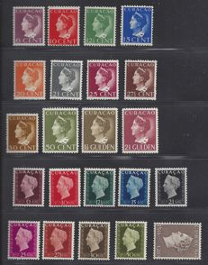 Curacao 1890/1948 – Willem III, Wilhelmina 'Konijnenburg' and  'Hartz' – NVPH 24, 141/152, 185/195