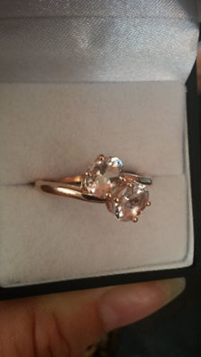 Rare 1.33ct Pink Zambezia Morganite dress ring