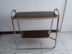 Manufacturer unknown - vintage tubular frame side table
