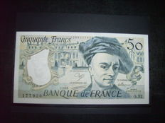 France - 27 banknotes in used condition - includes 20 francs 1989 series A 024