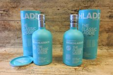 Bruichladdich The Classic Laddie Scottish Barley - in original tubes - 2 Bottles