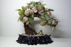 Vintage Chinese Hardstone Peaches Tree - second half 20th century