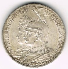 German Empire, Prussia - 2 Mark 1901 A 200 Years Kingdom Prussia - silver
